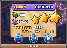 Level Cleared Screen